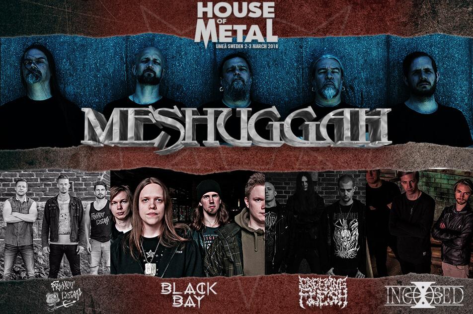 Meshuggah to headline Saturday at HoM 2018